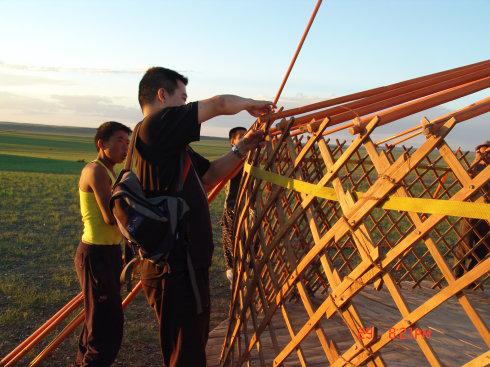 传统蒙古包制作详细过程