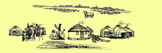 内蒙古蒙古包家具与装饰,主要分木质和皮制