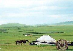 近代的蒙古包式建筑